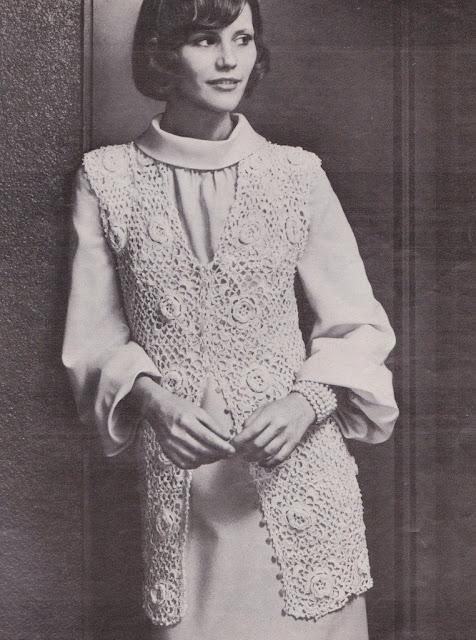 The Vintage Pattern Files: Free 1970's Crochet Pattern - Irish Rose Jacket