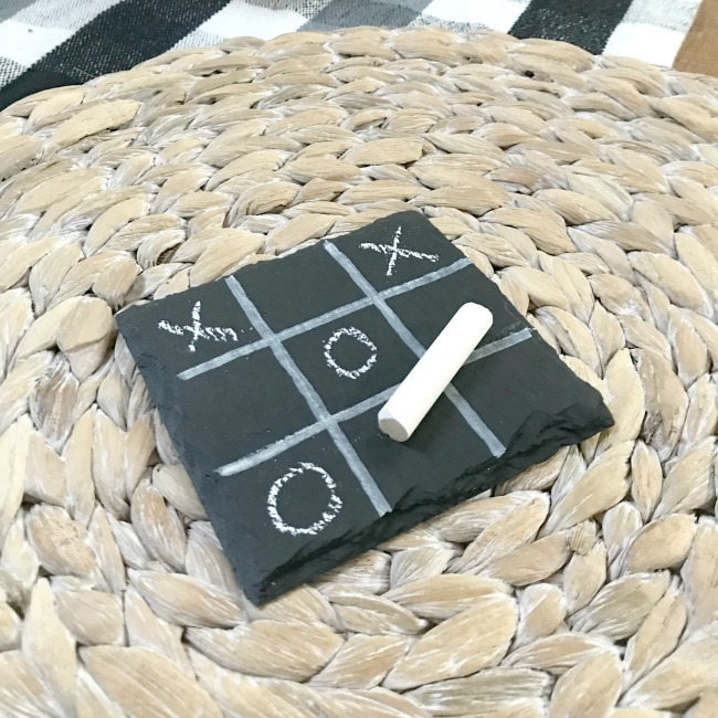 How to Make a DIY Tic-Tac-Toe Chalkboard