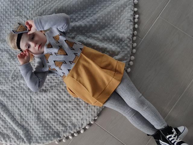 sukienka z liskami dla dziewczynki 7