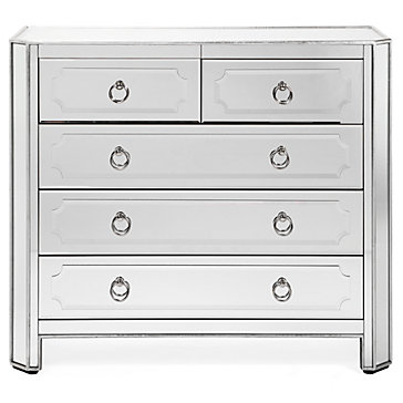 Simplicity Mirrored 5 Drawer Hall Chest 899 As A Clean All Modern Option One Of My Favorites