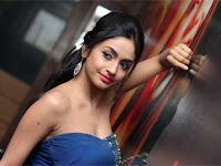 Pooja Sri hot Stills in Blue Dress