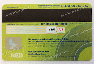 làm thẻ visa prepaid acb