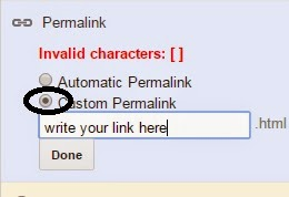How To Make Your Own Custom Permalink In Your Blog Post