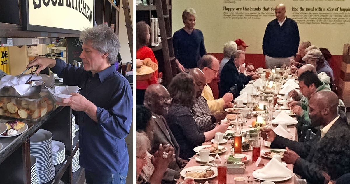 Jon Bon Jovi Opened Two Charity Restaurants For People In Need