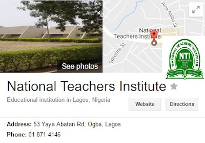 National Teachers Institute (NTI) Study Centers in Nigeria