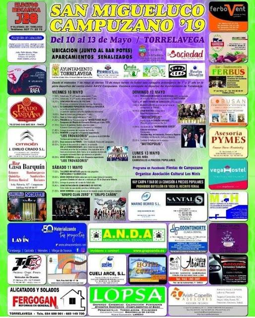 Fiestas de San Migueluco en Campuzano 2019