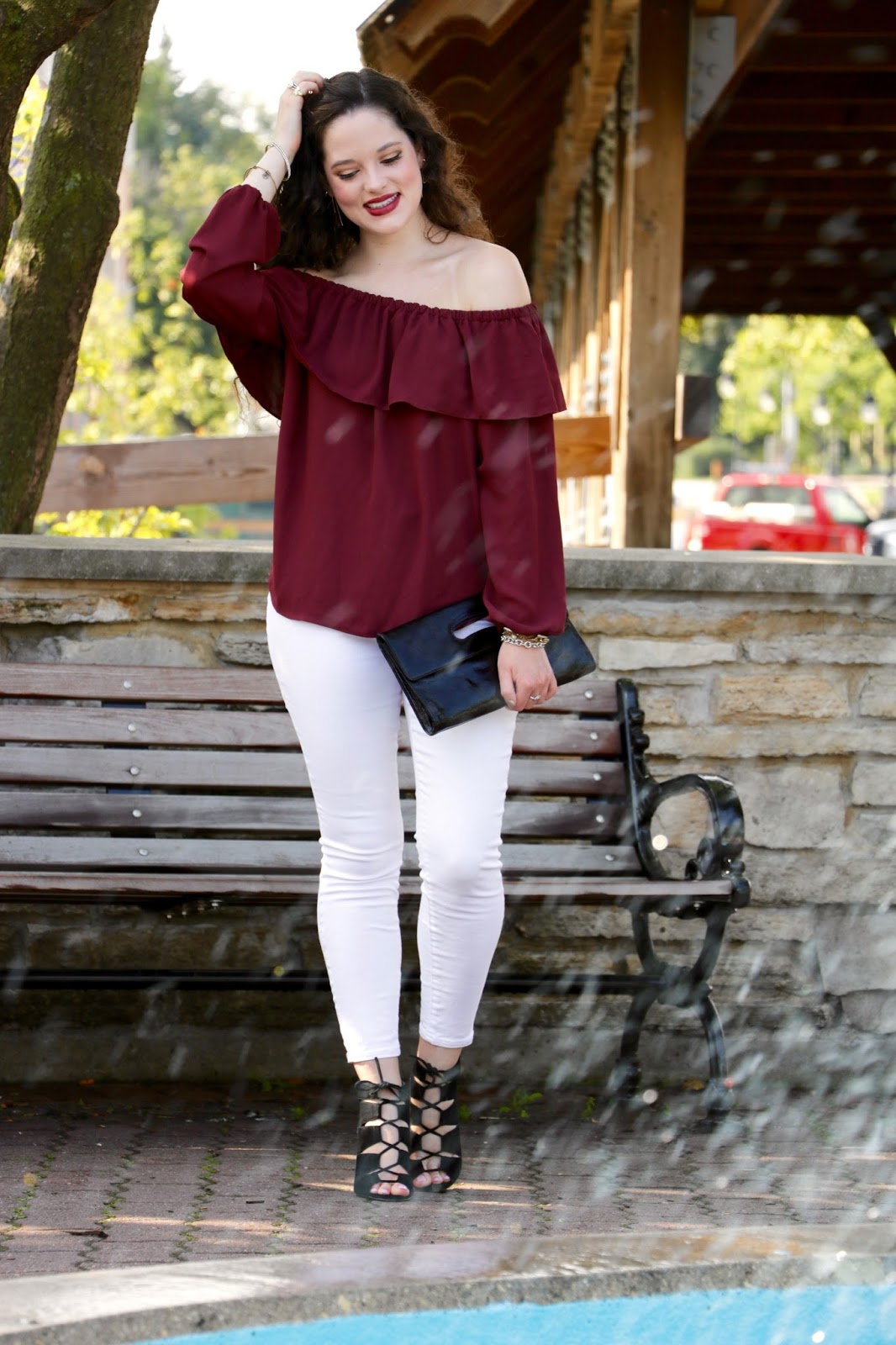off the shoulder top fall