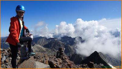 Vértice el pico más alto del Pirineo francés el pico Vignemale.