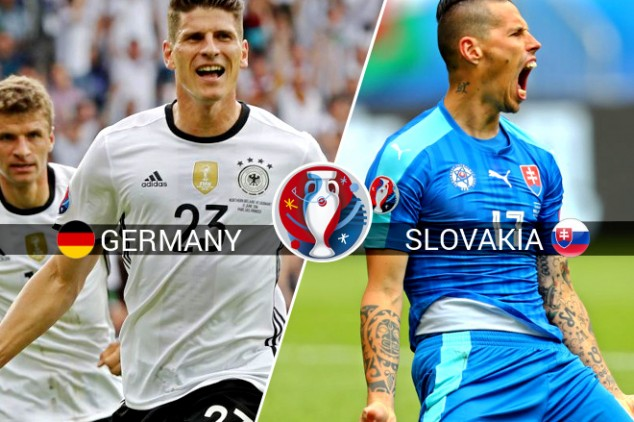 Germany vs Slovakia Euro 2016 Live, Kickoff Time, Lineup, Tv Channels info: