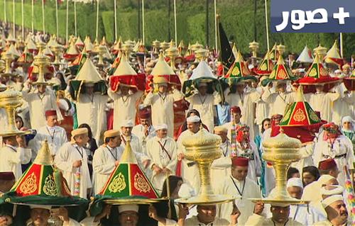 جميع الصور من حفل تقديم التهاني والهدية أثناء مراسم حفل الزفاف الأمير مولاي رشيد