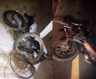 Grave acidente mata dois motociclistas entre Cuité e Nova Floresta