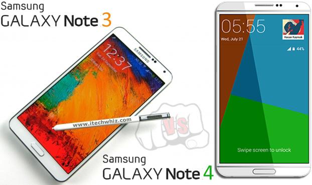 Galaxy Note 4 vs Samsung Note 3 Specs Comparison