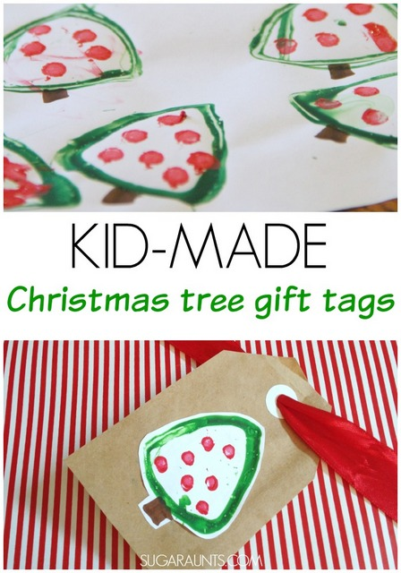 Christmas Tree Gift Tags Kid Made The Ot Toolbox