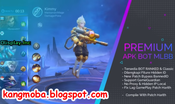 APK BOT Mobile Legends Premium Patch Harith No Bait, No Banned & Aman Update Terbaru