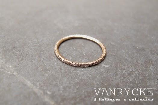 Bijoux Vanrycke Paris Bague or rose diamants Officiel