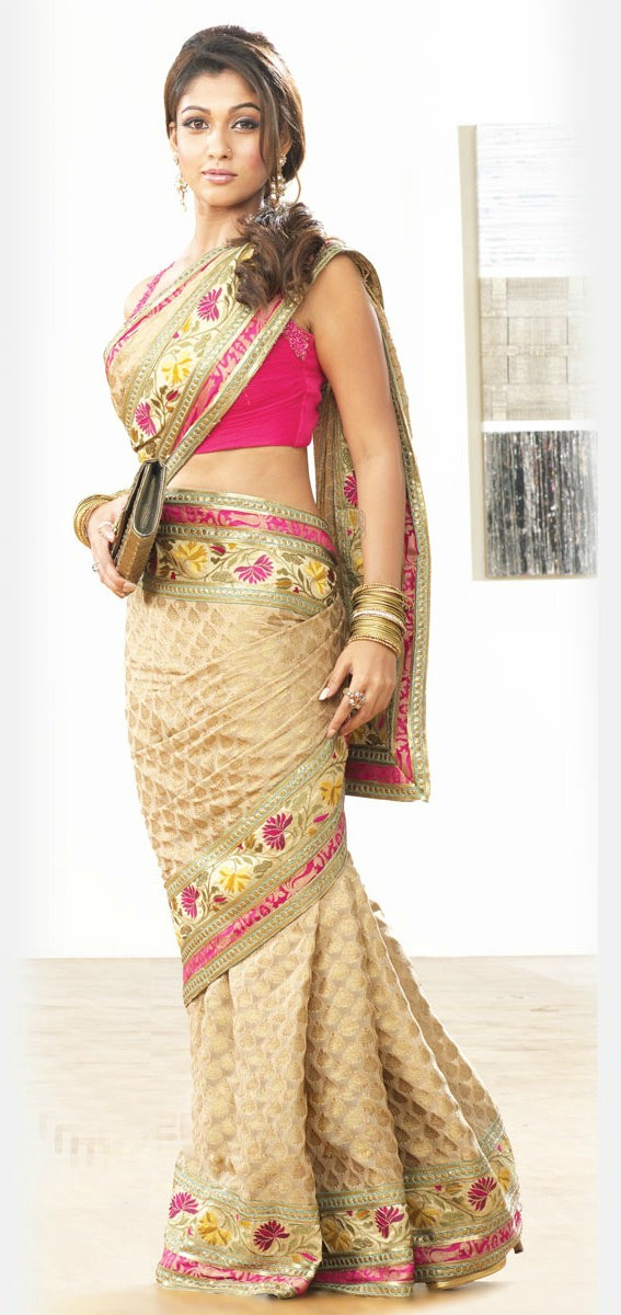 Actress Nayantara Yellow Saree
