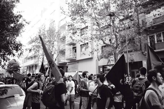 Демонстрация студентов Университета Барселоны