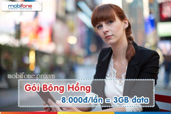 Mobifone dành tặng gói cước data Bông Hồng ngày 8/3 ưu đãi 3GB data