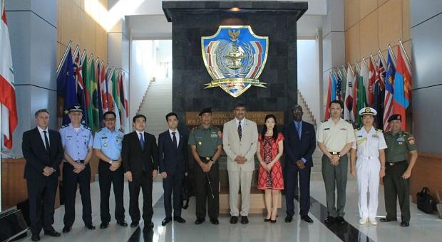Komandan PMPP Terima Kunjungan Delegasi Markas Besar PBB dan Jepang