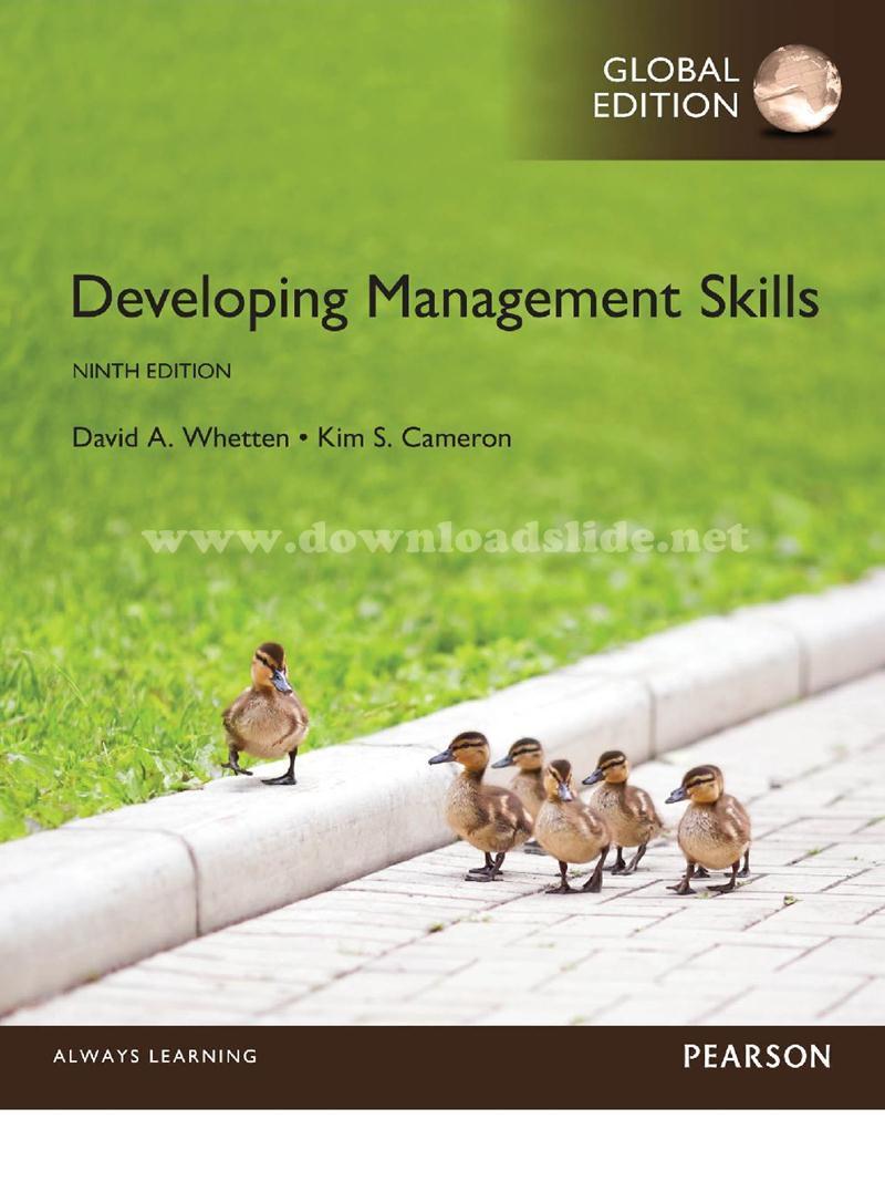 Developing management skills (international edition) edition.