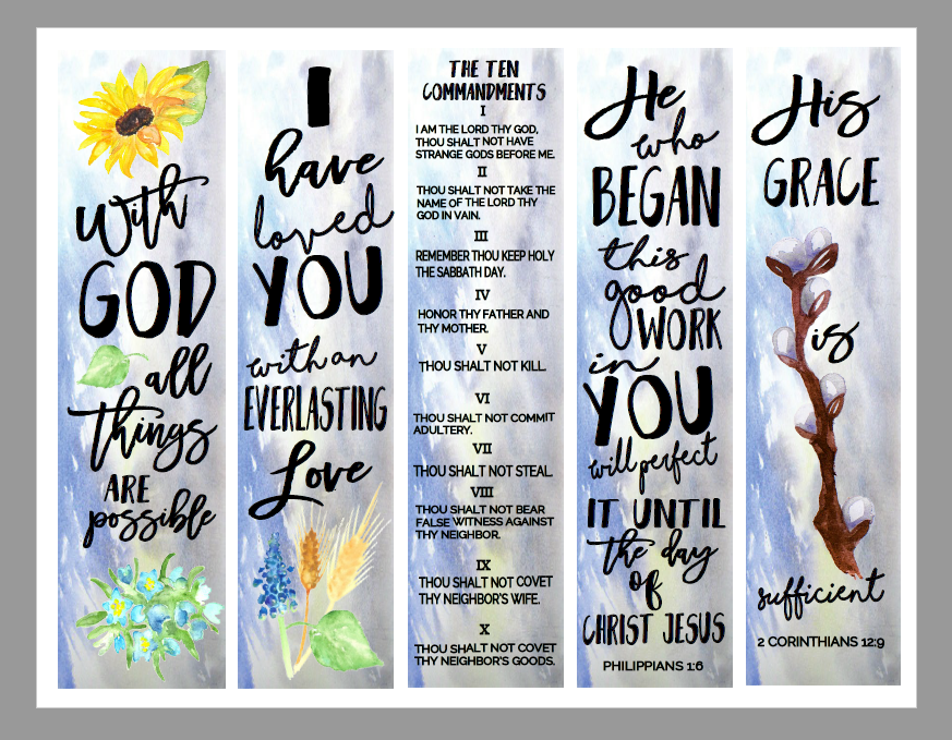 Christian study tools and art free bookmarks for Religious bookmark templates