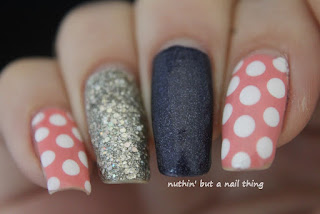 polka dot nail art design ideas