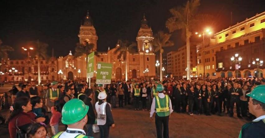 SIMULACRO DE SISMO: Así participó la población en medida preventiva