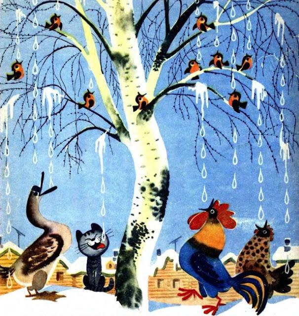 советские картинки о весне