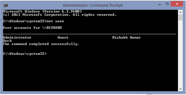 Crack Admin Password command prompt
