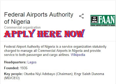 Check Here for FAAN Recruitment 2018 | Application Portal @www.faan.gov.ng