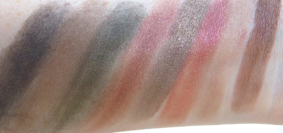 an image of makeup revolution flawless palette swatched