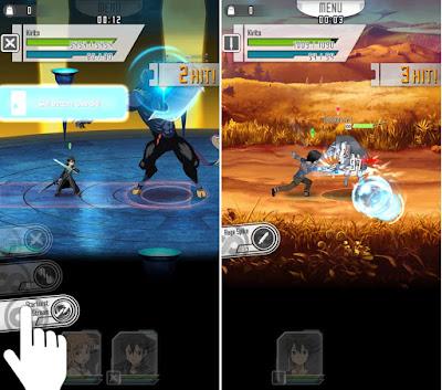 Tampilan Game SWORD ART ONLINE Memory Defrag