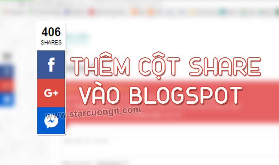 Hướng Dẩn Thêm Nút Share Mạng Xã Hội Tuyệt Đẹp Cho Blogspot