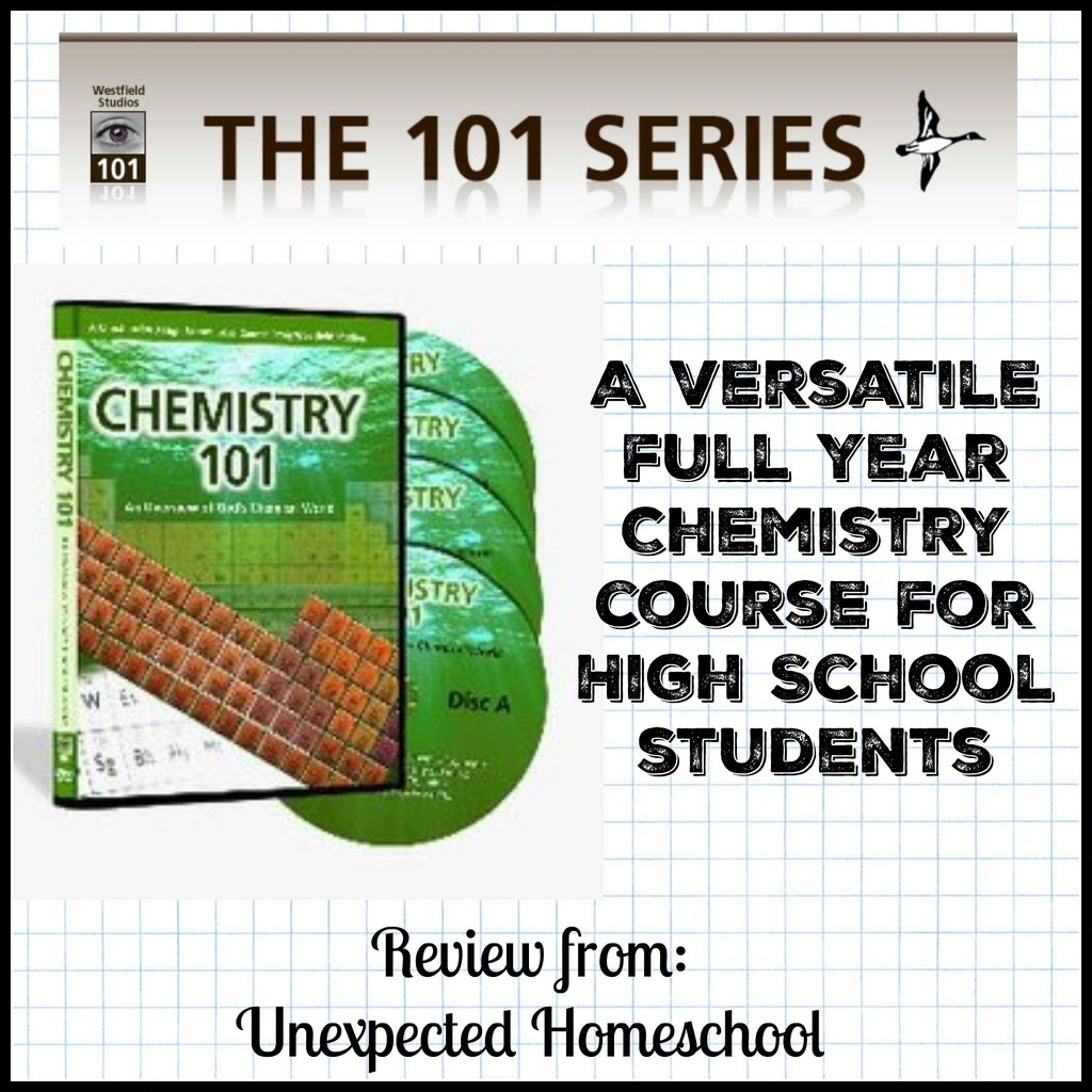 Unexpected Homeschool: {Review} Chemistry 101 (from The 101 Series)