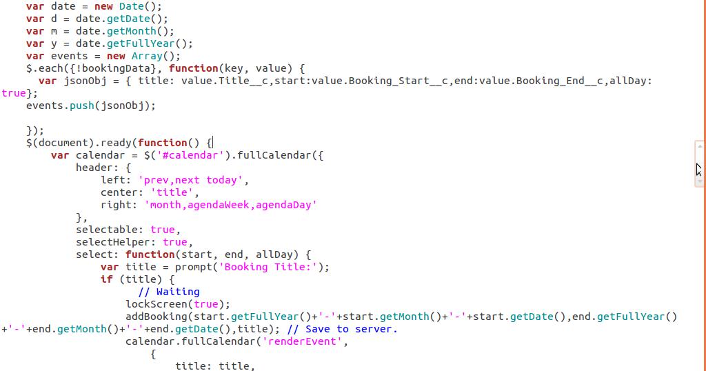 Custom Calendar on VisualForce Page