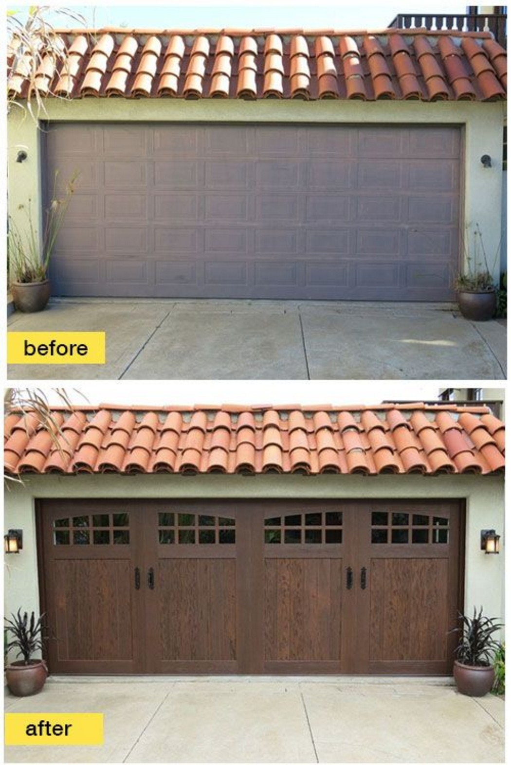 Garage door makeover ideas garrdenoflove for Best windows for a garage