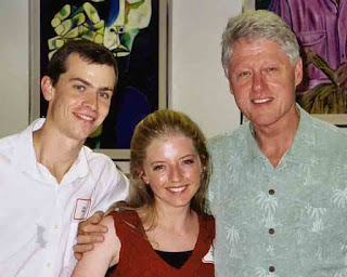Josh and Kate Hart with Bill Clinton