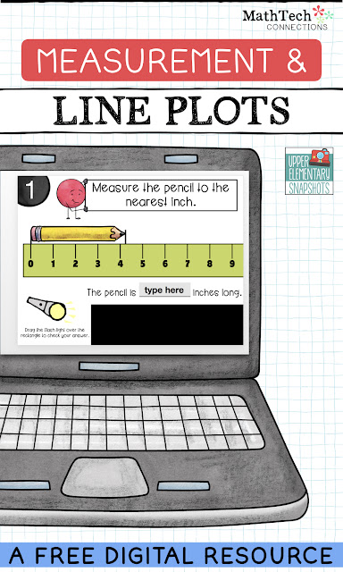 Students review measuring to the nearest inch, half-inch, and quarter-inch using this interactive PowerPoint math activity.  Student then plot the measurements on a line plot. A free student worksheet is also included in this resource.