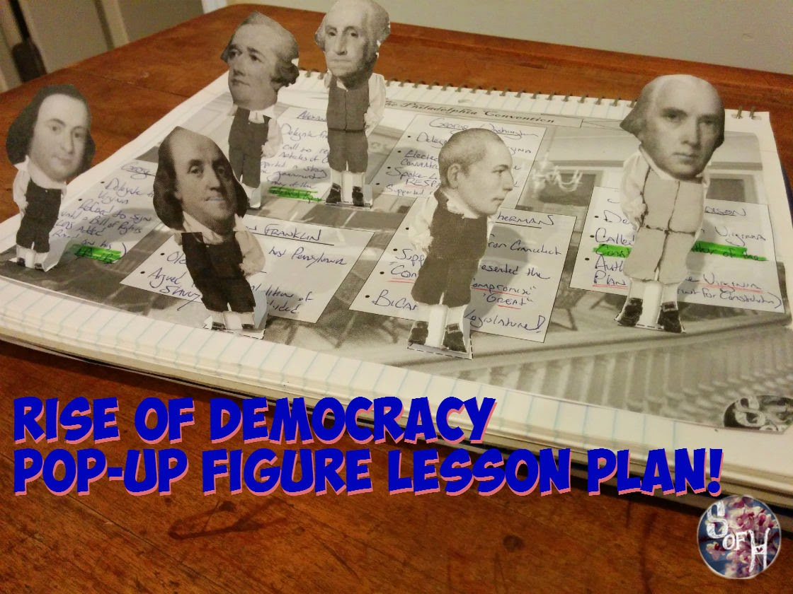 Students Of History Constitutional Convention Pop Up Figures Rise Of Democracy Lesson