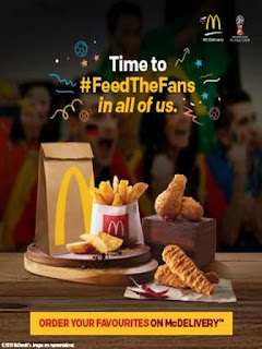 McDonalds  Offer  Get Free McChicken or McVeggie with a Regular Coke on Purchase of Rs.275 & more