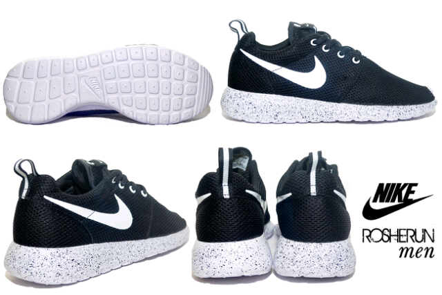 best service 02e2b 578a0 ... cheap nama barang nike roshe run men black white oreo grade replika  original ukuran tersedia 40