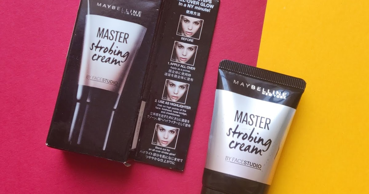 """Maybelline Master Strobing Cream """"Pink"""" - Review and Swatch"""