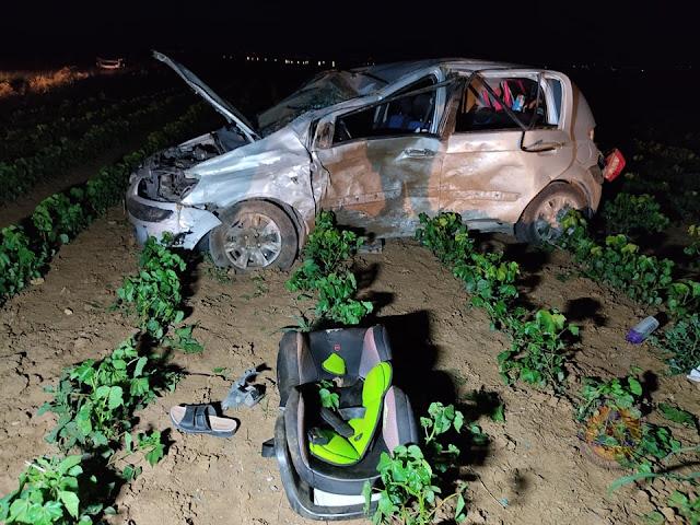 Πέντε τραυματίες σε τροχαίο στα Άθυρα Νομού Πέλλας – Τρία ανήλικα ανάμεσά τους (ΦΩΤΟ)