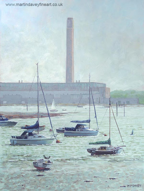 M P Davey river hamble hampshire painting