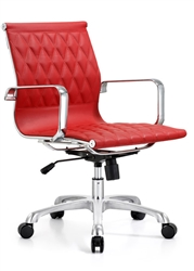 Red Leather Conference Chair