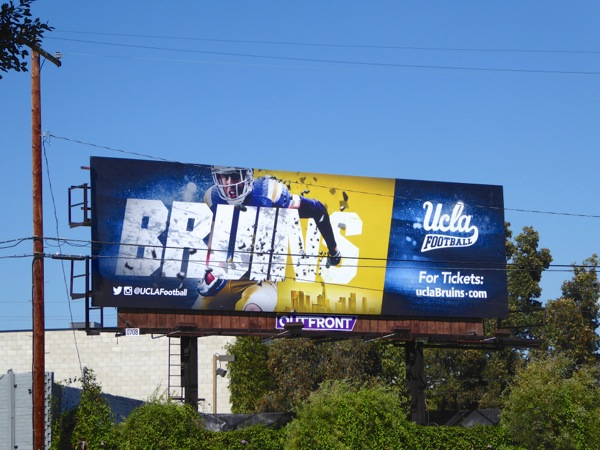 Bruins UCLA American Football billboard