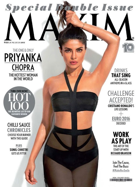 Bollywood Beauty Priyanka Chopra Maxim Cover Page Issue