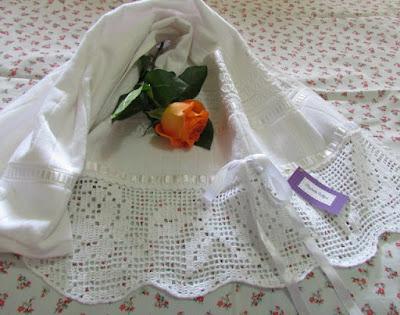 Toalha de Rosto com Barrado em Croche