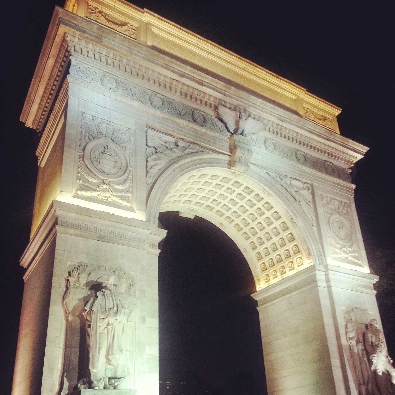 Washington Square Park Arch by night  |  Neighborly |  http://afeatherynest.blogspot.com