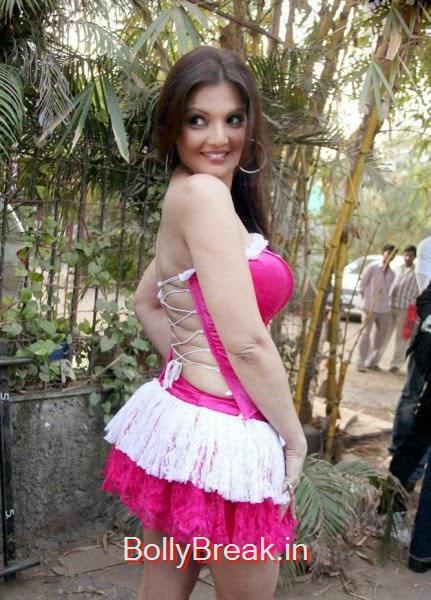 hot images, Actress Deepshikha hot Pics in Pink Backless Dress